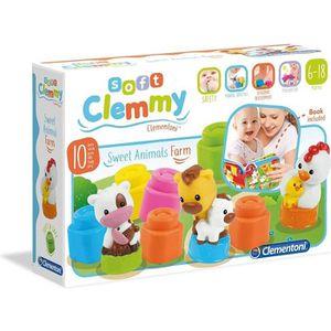 CUBE ÉVEIL CLEMENTONI Clemmy - Animaux de la ferme - Cubes so