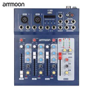 TABLE DE MIXAGE ammoon F4-USB 3 canal Digtal micro ligne Audio Mix