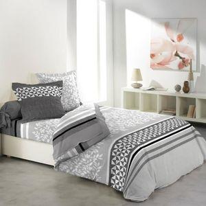 PARURE DE DRAP Parure de lit REVEL 4 pièces 100% coton 240 X 300
