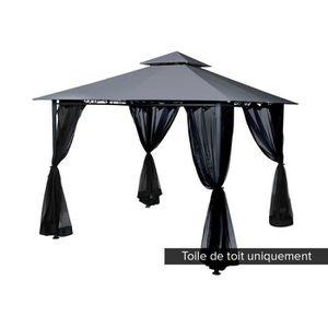 TONNELLE - BARNUM Toile de toit pour la tonnelle FOGO 3 x 3 m Ardois