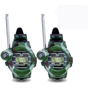 TALKIE-WALKIE JOUET 2pcs talkie-walkie montre enfants jouets intercom