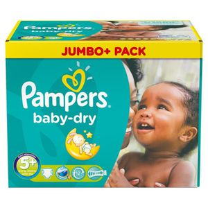 COUCHE 336 Couches Pampers Baby Dry taille 5+