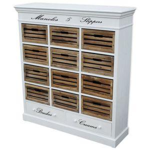 COLONNE - ARMOIRE SDB meuble de rangements à casiers