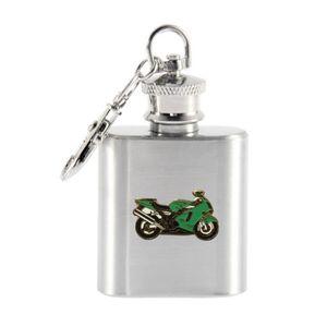 FLASQUE Kawasaki moto Porte-clés en flacon de 1 oz