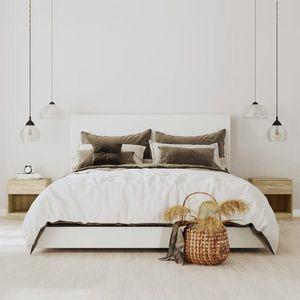 CHEVET 2 tables de chevet avec tiroir Couleur en chêne