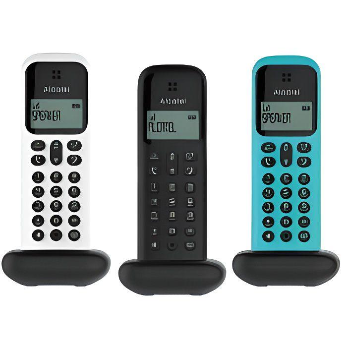 Alcatel D285 Voice Trio Noir, Blanc et Turquoise