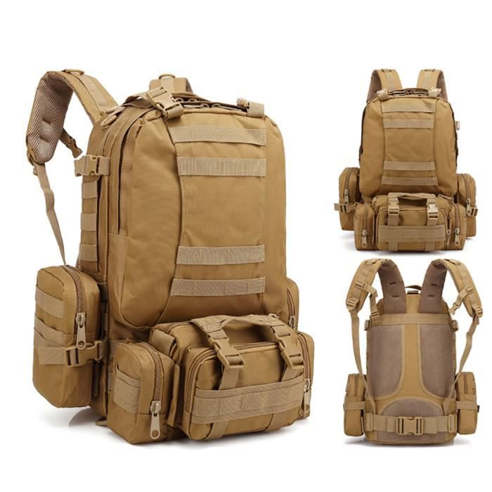 55L Molle Outdoor Bag Camping Randonnée Trekking Sac à dos BRF90606009B_7274