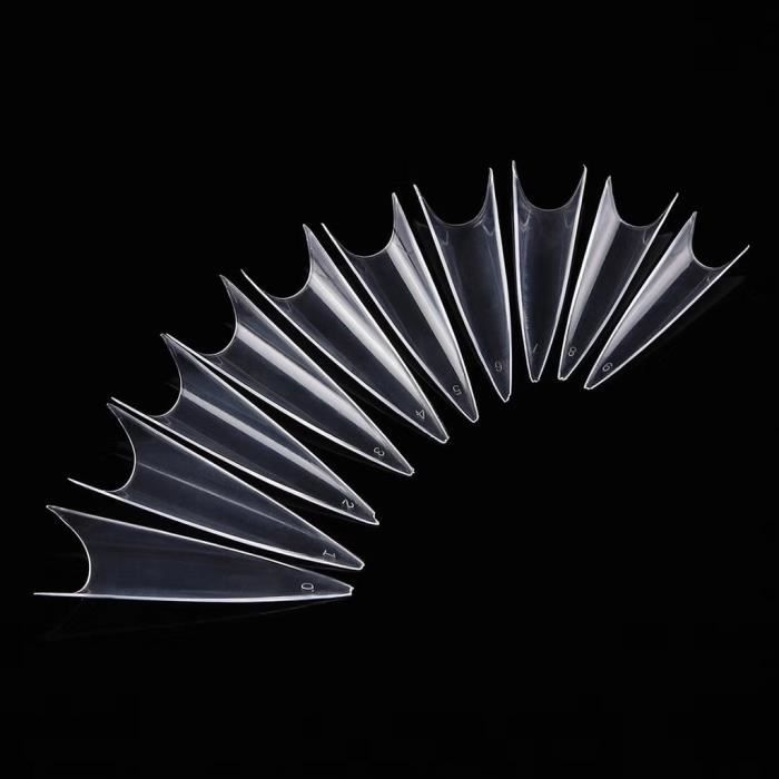 vernis à ongle Extra Long Faux Ongles Conseils Gel Acrylique Salon Demi-Couverture Nail DIY Outils 500pcs wes2853