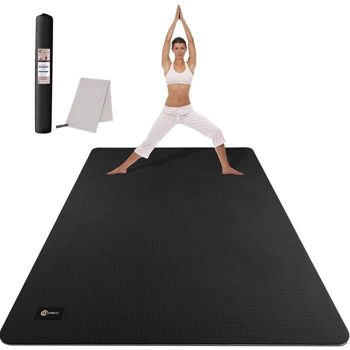 CAMBIVO Grand Tapis de Yoga (6 'x 4' x 6mm), Tapis TPE Extra Large pour Hommes et Femmes, Tapis de Fitness pour Le Yoga, Pilates, En