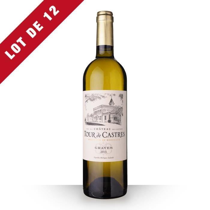 12X Tour de Castres 2013 Blanc 75cl AOC Graves - Vin Blanc