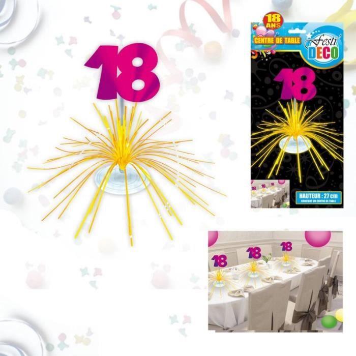 Centre de table d'anniversaire 18 ans