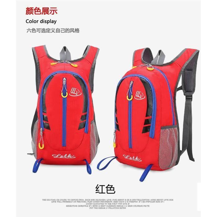 Rouge couleur 20L -Sac à dos étanche unisexe en Nylon, 20l, Portable, voyage en plein air, randonnée, cyclisme, escalade, Sport, ult