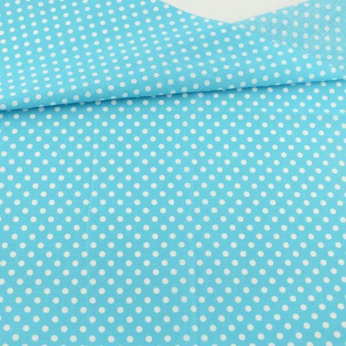 Fat Quarter Sky Blue White Dots Designs Patchwork Cotton Fabric Home Textile Sewing Lining Tecido 2016 News Beginner's - Type 20x25