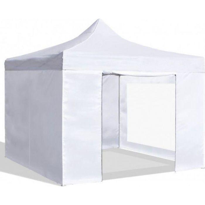 Barnum pliant blanc 3 x 3 mètres avec 4 côtés