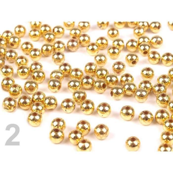 10g 2 Or Lieutenant En Plastique Imitation Perles De Nacre Coup D'œil Ø4mm Métallique, Large Tirant Trou, Et La Fimo