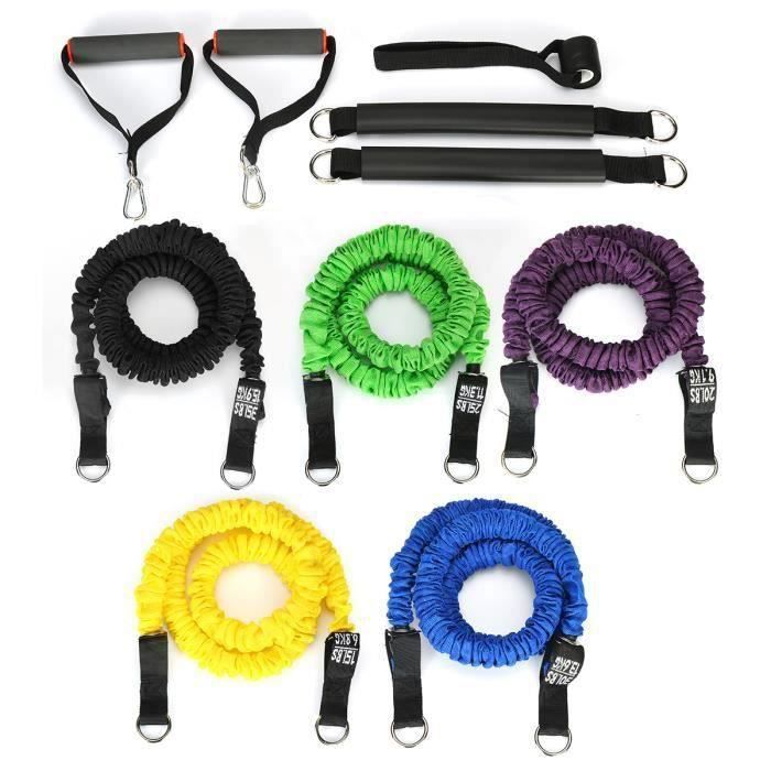 Bande d'extension Elastique Fitness Corde de Tension Extensible de Musculation Yoga Physique Exerce 125LB Wir12