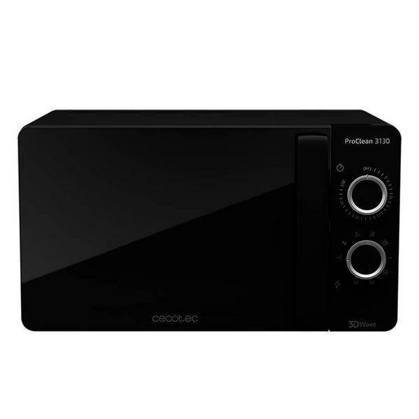 Four Micro-ondes grill design noir élégant, Minuterie, 20 L, 700 W, Noir