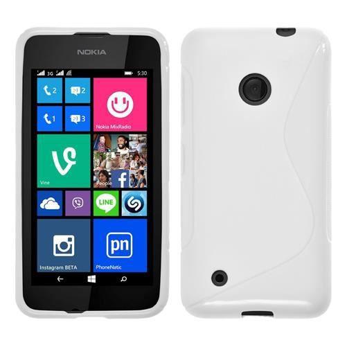 Coque TPU type S pour Nokia Lumia 530 - blanc