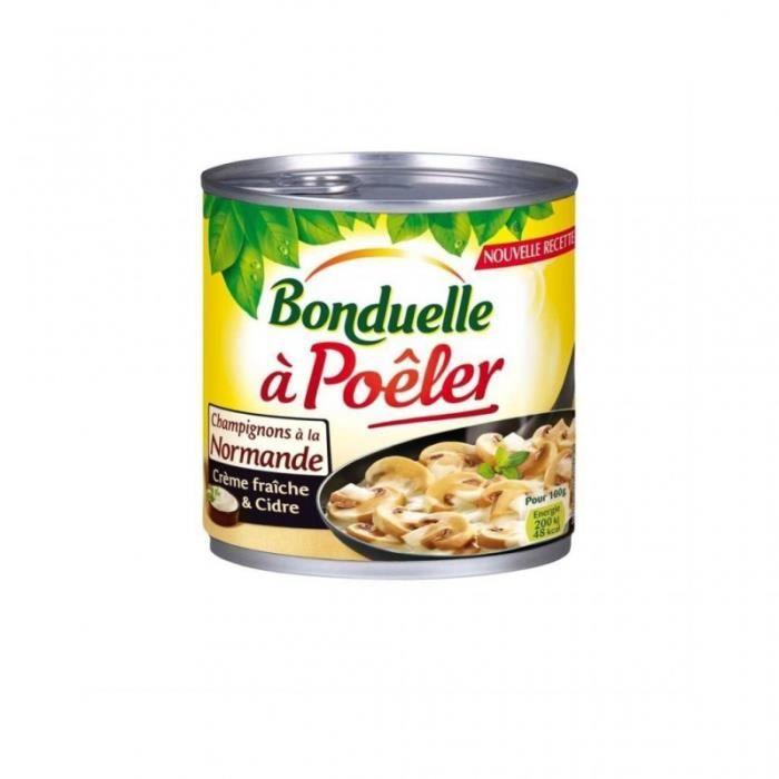 Bonduelle Poêlée Champignons à la Normande Crème Fraîche & Cidre 400g (lot de 5)