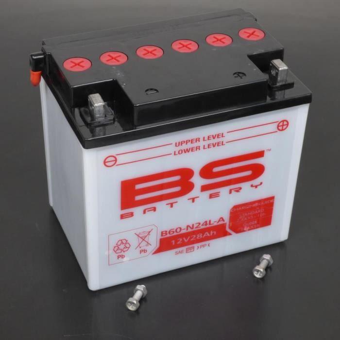 Batterie 12V 28Ah BS Batterie Y60-N24L-A moto BMW 1000 R100RS 1980 à 1991