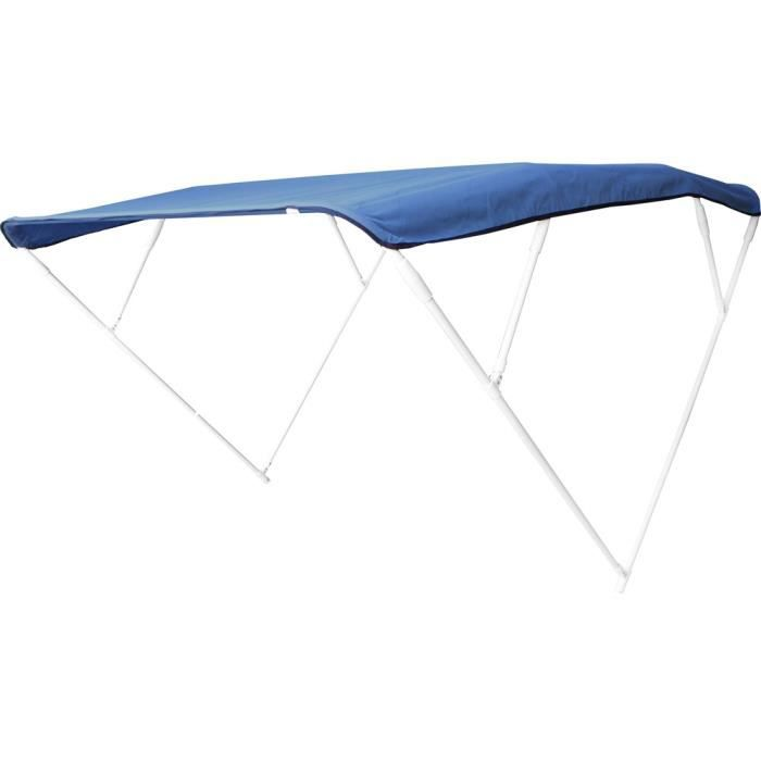 Bimini 4 arceaux Aluminium Cape Horn 240X140X255 - Bleu