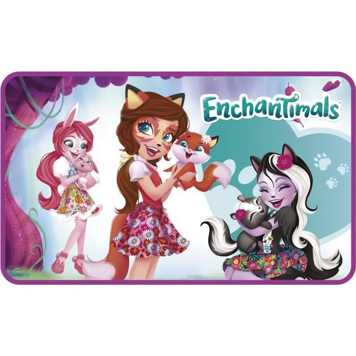 DISNEY Tapis de Sol Enchantimals Pour enfant - 45x75 cm