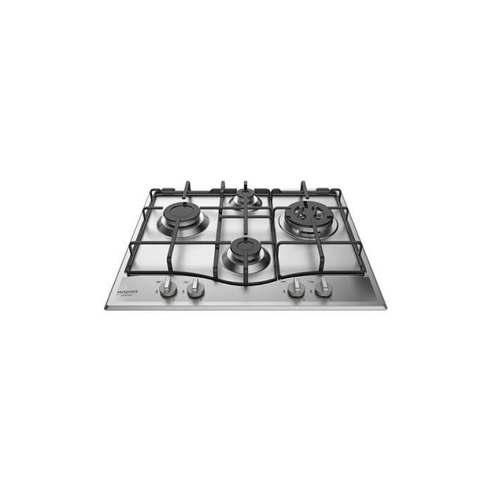 Hotpoint PCN 642 T-IX-HAR, Intégré, Cuisinière à gaz, Acier inoxydable, Acier inoxydable, 1000 W, 5,5 cm
