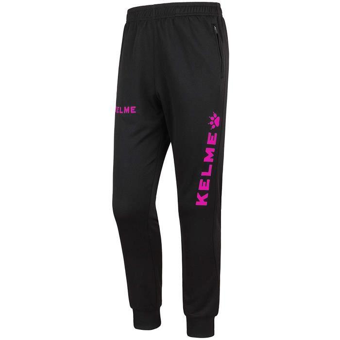 Kelme Global Pantalons Longs, survêtement Homme XL Noir/Rose (Fuchsia) - 75054_XL_Negro / Rosa (Fucsia)