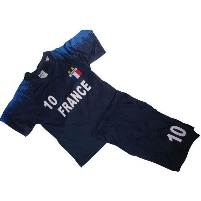 maillot + short France 2 étoiles 3 ans short enfant
