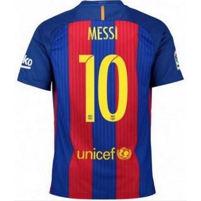 Maillot Garcon Nike Fc Barcelone Home Saison 2016-2017 Flocage Officiel Messi numéro 10