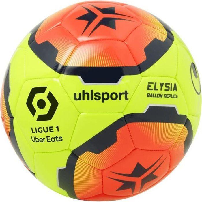 Ballon Uhlsport Elysia replica 32 panneaux - jaune paille/rouge paille/bleu marine - Taille 5