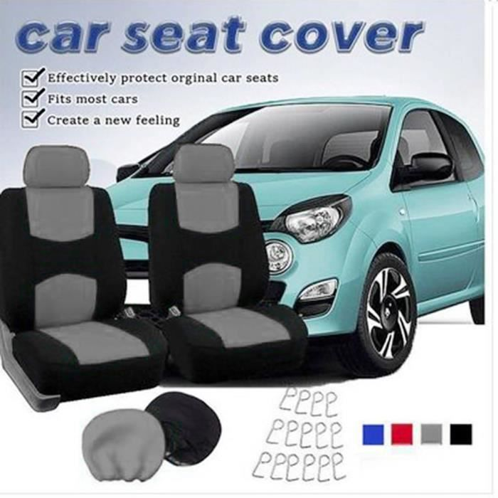 Couvre-siège auto Auto Couvre-siège style voiture complet pour accessoires intérieurs, gris