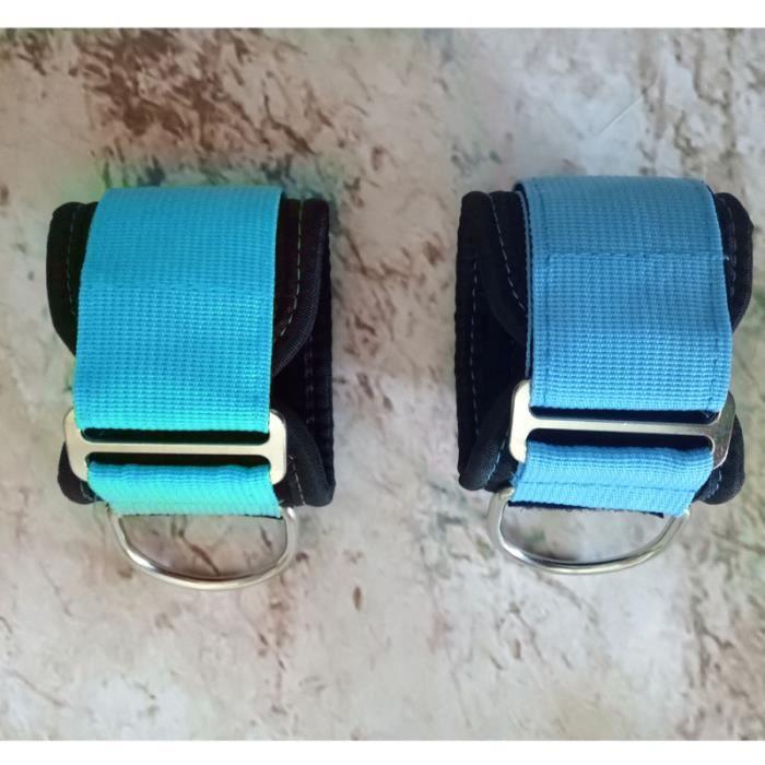 2pcs sangle de cheville réglable Gym bleu poids du poignet de la pour remise en forme BARRE - HALTERE - POIDS