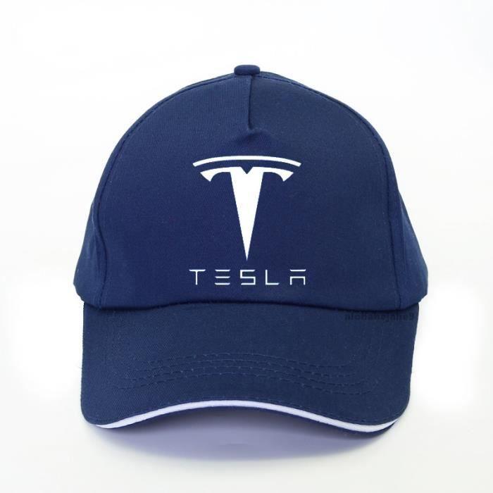 Marine Bleu -Casquette de Baseball Tesla unisexe pour hommes et femmes, marque à la mode, pour fans de voiture