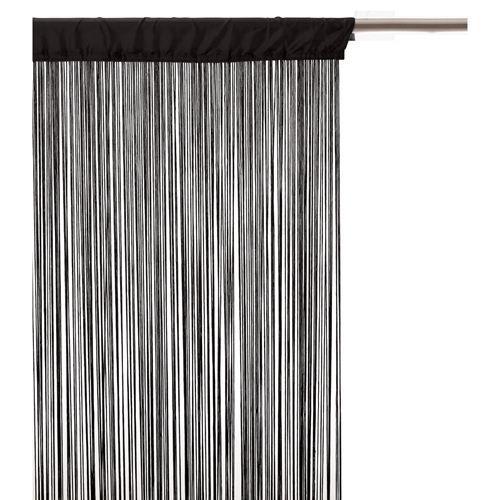 RIDEAU Rideau fils - 120 x 240 cm - Noir