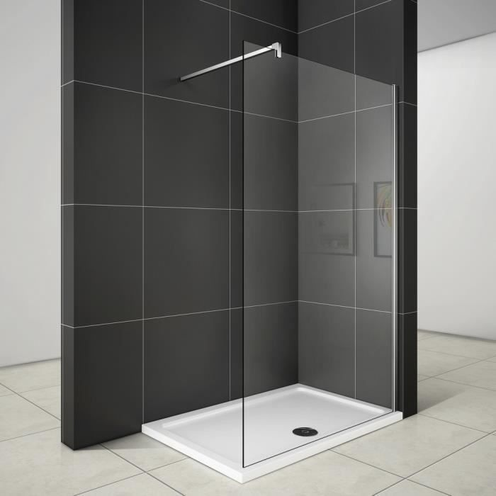 160x200cm paroi de douche paroi fixe transparent 10mm. Black Bedroom Furniture Sets. Home Design Ideas