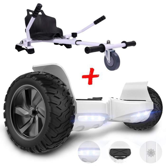 GeekMe Gyropode 6.5 Pouces Dual Moteurs Board Hover Scooter Auto-/équilibr/é UL2272 avec Bluetooth Lumi/ères Cool No.Q