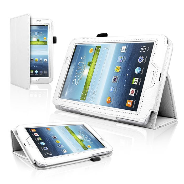 etui coque blanc samsung galaxy tab 3 7 0 tablette achat. Black Bedroom Furniture Sets. Home Design Ideas