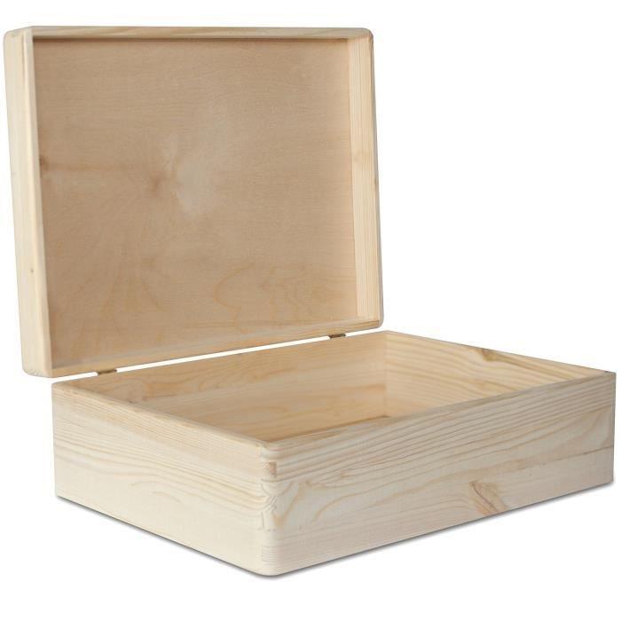 COFFRE - MALLE Creative Deco XL Grande Boîte de Rangement Bois |
