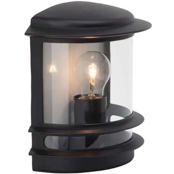 Brilliant applique murale ext rieure hollywood 60w noir for Applique murale exterieure descendante