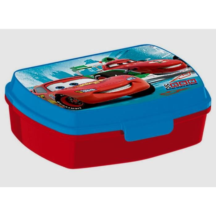 boite a gouter cars lunch box rouge 16 x 11 cm achat. Black Bedroom Furniture Sets. Home Design Ideas
