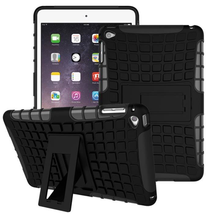 Ipad mini 4 coque 2in1 housse protection antichocs for Housse protection ipad