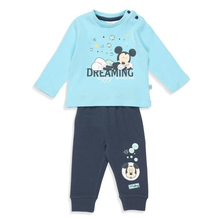 Ensemble de vêtements DISNEY MICKEY Ensemble T-shirt + Pantacourt Bleu C