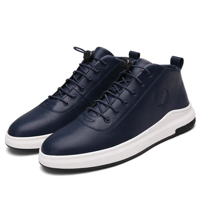 Skateshoes Homme Hiver - automne l'exécution Sneaker antidérapante Hommes noir taille40 RZgAMImO