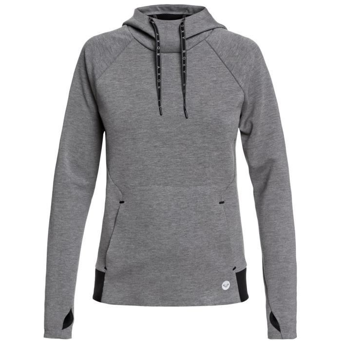 Sweat à capuche Femme Roxy By Here By Now Gris Heather Gris