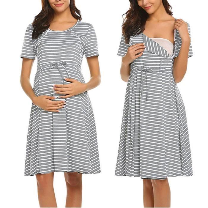 Robe Eté Femme Enceinte Maternit d'allaitement