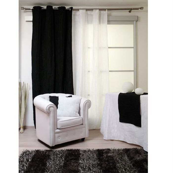 rideaux oeillets bambou blanc achat vente rideau bambou polyester polyamide m tal. Black Bedroom Furniture Sets. Home Design Ideas