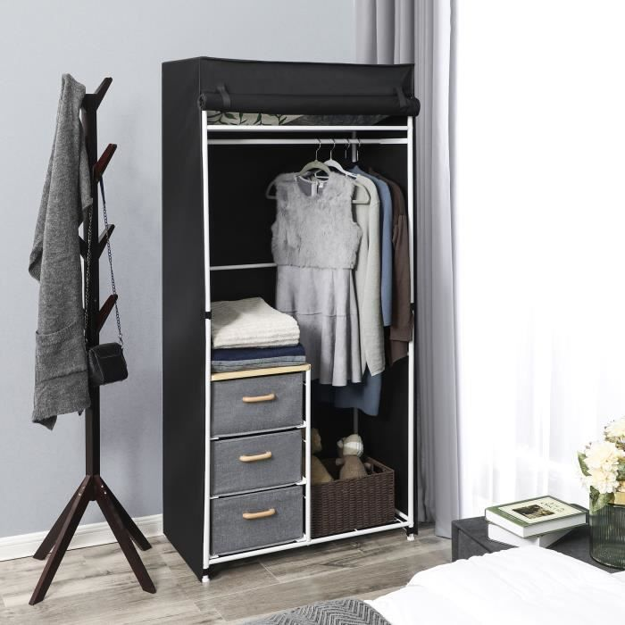 armoire penderie vestiaire achat vente pas cher. Black Bedroom Furniture Sets. Home Design Ideas