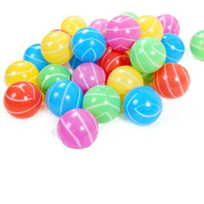 Vococal 100 x oc an boule plastique color souple jouet for Piscine a boule bebe
