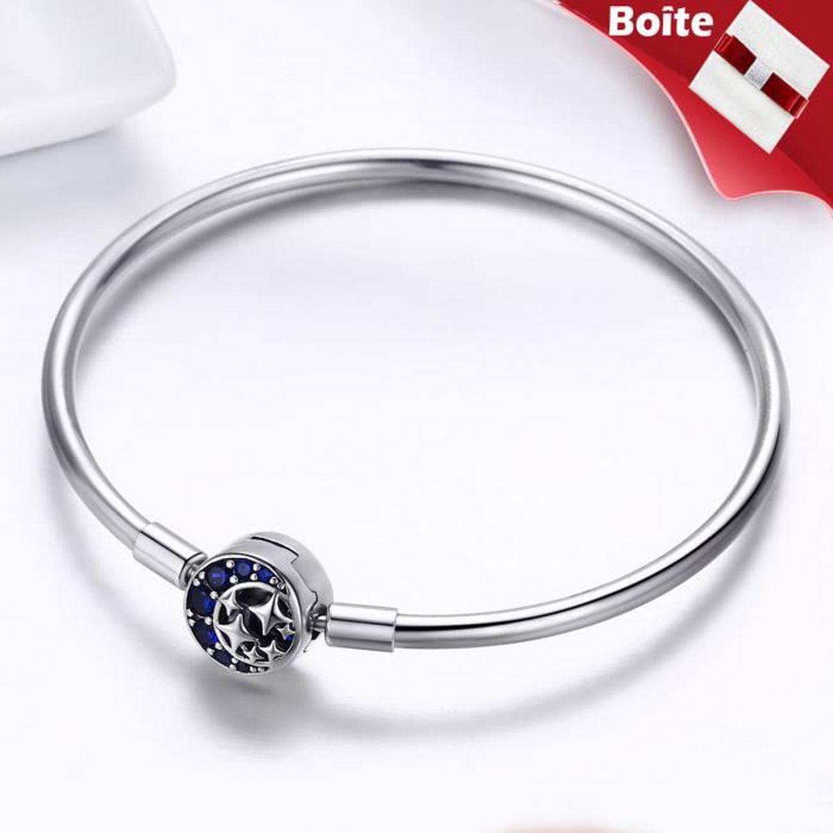 bracelet pandora 19 cm fermeture etoile